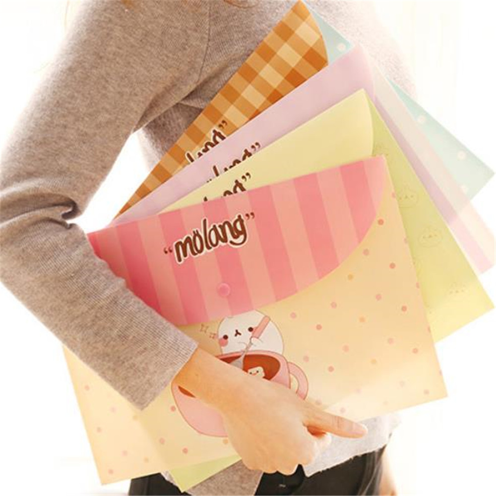 New PVC Floral A4 File Folder Document Filling Bag Stationery Bag School Office Supplies