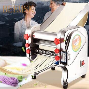 BEEMSK máquina de prensa de fideos automática comercial de acero inoxidable máquina de hacer pasta eléctrica prensa de fideos 220V enchufe de la UE