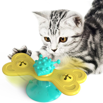 Windmill Toys For Cats Puzzle Whirling Cat Play Game Toys Cat Turntable Teasing Interactive Toys With Massage Scratching Tickle