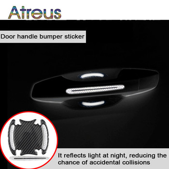 4Pcs Car Sticker Door Handle 5D Reflective Carbon Fiber Decal For Toyota Corolla Yaris Chr Auris Rav4 Avensis T25 Hilux Mazda 6 image