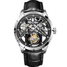 100% Оригинальные механические мужские часы с турбийоном скелетоны
