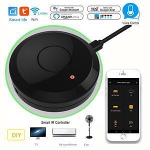Image 1 - Tuya casa inteligente wifi ir controle remoto de voz ar condicionado caixa tv via alexa google sem fio universal ir controlador