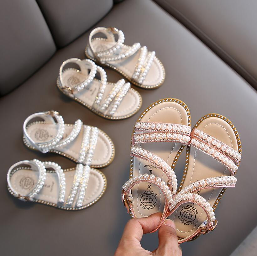 Summer Style Sandals Children Casual Shoes Toddler Kids Girls Beach Sandals Cute Bow Girls Princess Shoes 1-14 Years Sneakers
