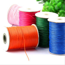 10yards 1mm Colorful Waxed Cotton Cord Waxed Thread Cord String Strap Necklace Rope For Jewelry Making For Shamballa Bracelet