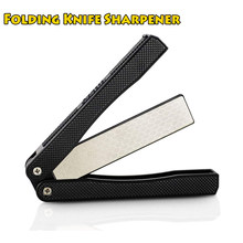 Outdoor Camping Gear Folding Diamond Knife Sharpener Pocket Double Sided Knife Sharpening Stone 400 / 600 Grit Picnic EDC Tools