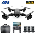 S166 Mini RC Drone with Camera 1080P FPV GPS Follow me Gesture Photo Auto Return Home 720P Foldable Drone RC Quadcopter Dron Toy|RC Helicopters|   -