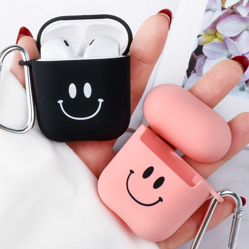 Soft Matte Case For Apple Airpods 2 1 Frosted Protective Case Box For Airpods 2 1 Lovely Pattern Protector Wireless Earphone Bag