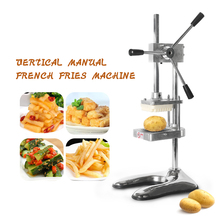 ITOP Vertical Potato Chip Press Machine French Fry Cutter Fruit  Vegetable Salad Slicer Kitchen With 3 Size Blades