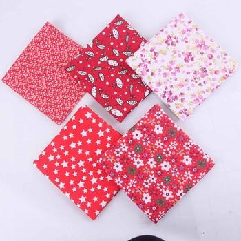 2020 nowy DIY ręcznie szyte dziecięca bawełna drukowana mały wzór kwiatowy niebieski chusteczka 5 sztuk dziecięca bawełna drukowana chusteczka tanie i dobre opinie moda Drukuj Unisex COTTON DIY Hand Stitched 0-3 M Burp Cloths