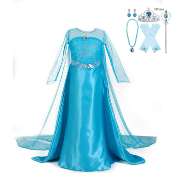 Princess Aisha dress Aisha dresses up as a show dress Children's Costume Fancy Party Dress