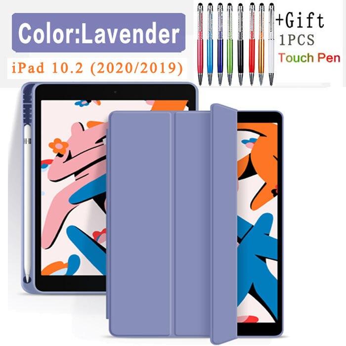 Flip Case-Lavender Yellow Funda Case For Apple iPad 10 2 2020 2019 flip Case with Pencil Holder For iPad