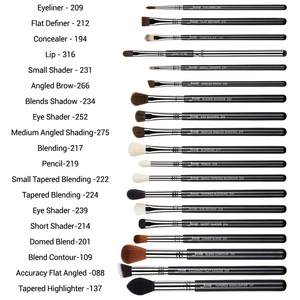 Image 4 - Jessup Professionele Make Up Kwasten Set Foundation Poeder Contour Oogschaduw Eyeliner 6 27Pcs Beauty Make Up Brush Cosmetica Tool