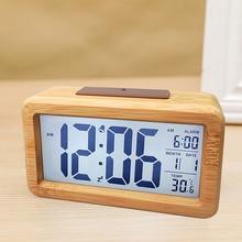 Table Clock Decoration Office-Desk-Clock Desktop Living-Room Solid-Wood Electronic Fashion