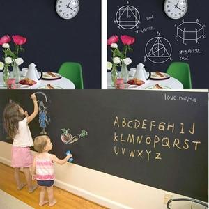 Blackboard Removable Wall Sticker Chalkboard Write Board Roll 2m x 45 cm Kids Drawing Writing Board Sheet