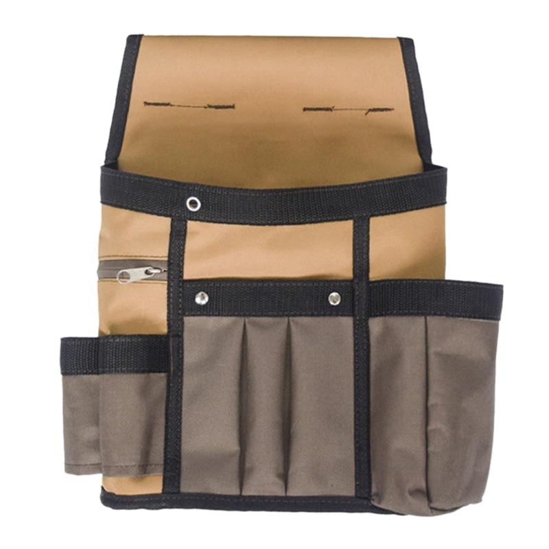 LJL-Electrician Tool Waist Pocket Belt Pouch Bag Multi-Pockets Kit Holder Tool Bag Men Multi-Pockets Universal Tool Bag For Hand