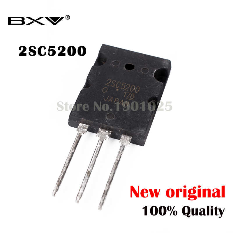 5PCS 2SC5200 SC5200 TO-3PL 5200 IC novo e original
