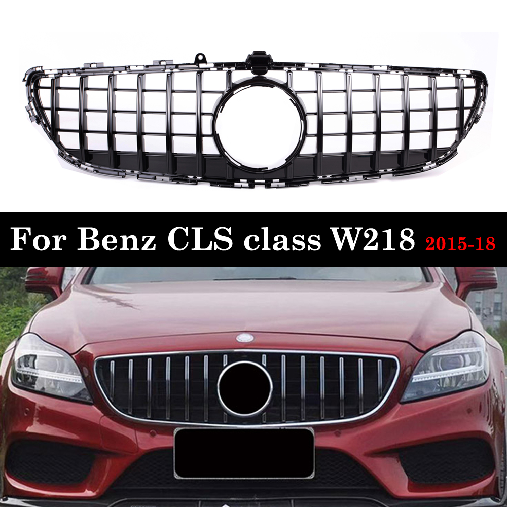 for Mercedes-Benz CLS Class <font><b>W218</b></font> GT <font><b>Grille</b></font> 2015-2018 Replacement Mesh Car Accessories Front Bumper Without Emblem image