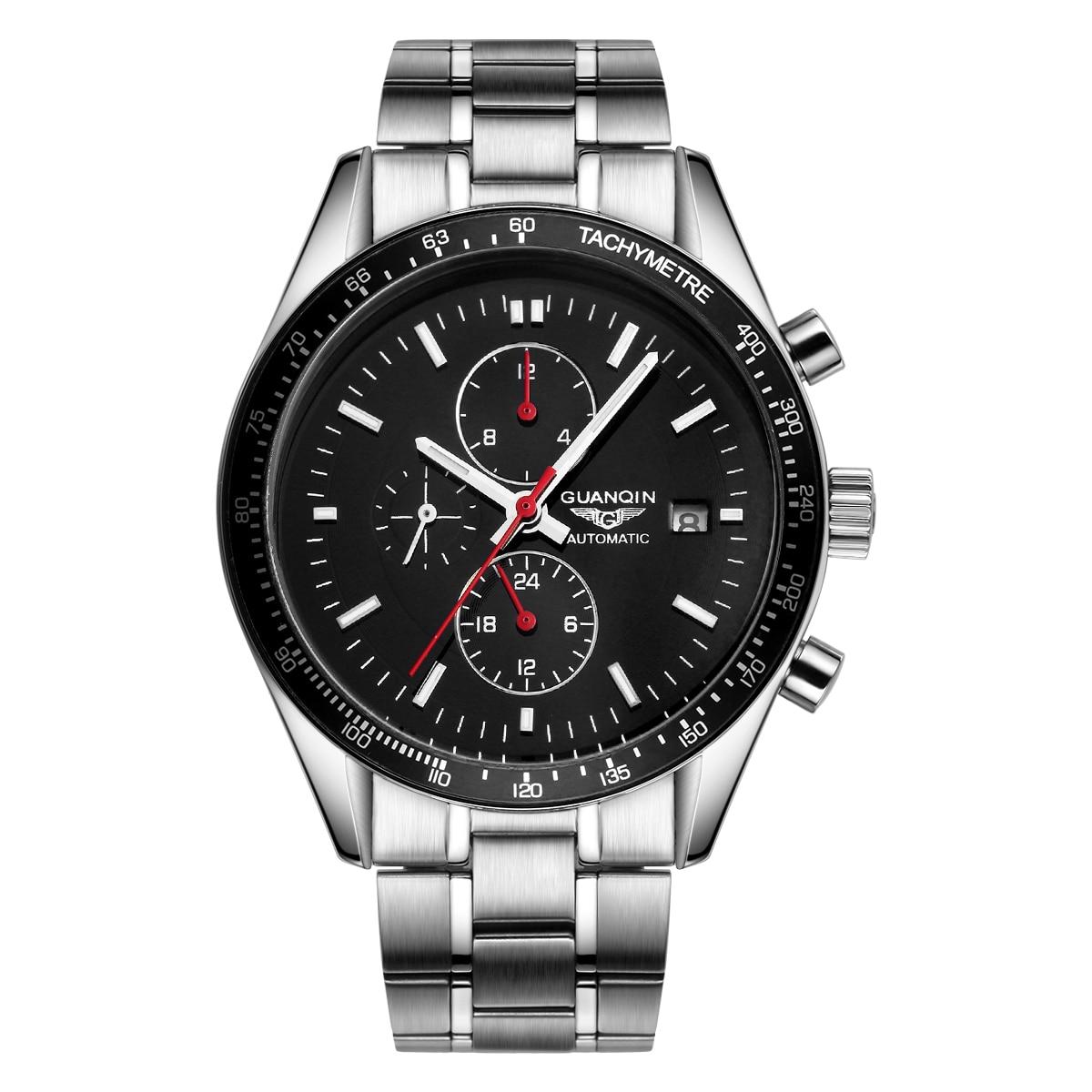 Top Brand Luxury Waterproof Steel Wristwatch