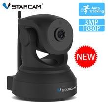 Vstarcam 1mp/2mp/3mp câmera ip preto c24s reconhecimento humanóide rastreamento automático wifi câmera ir cctv câmera de segurança de vídeo remoto ir