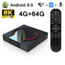 8K 4G+64G Android 9.0 TV Box Bluetooth Voice Assistant 2.4G Wireless WIFI Smart TVBOX Remote Control Media player Very Fast Box