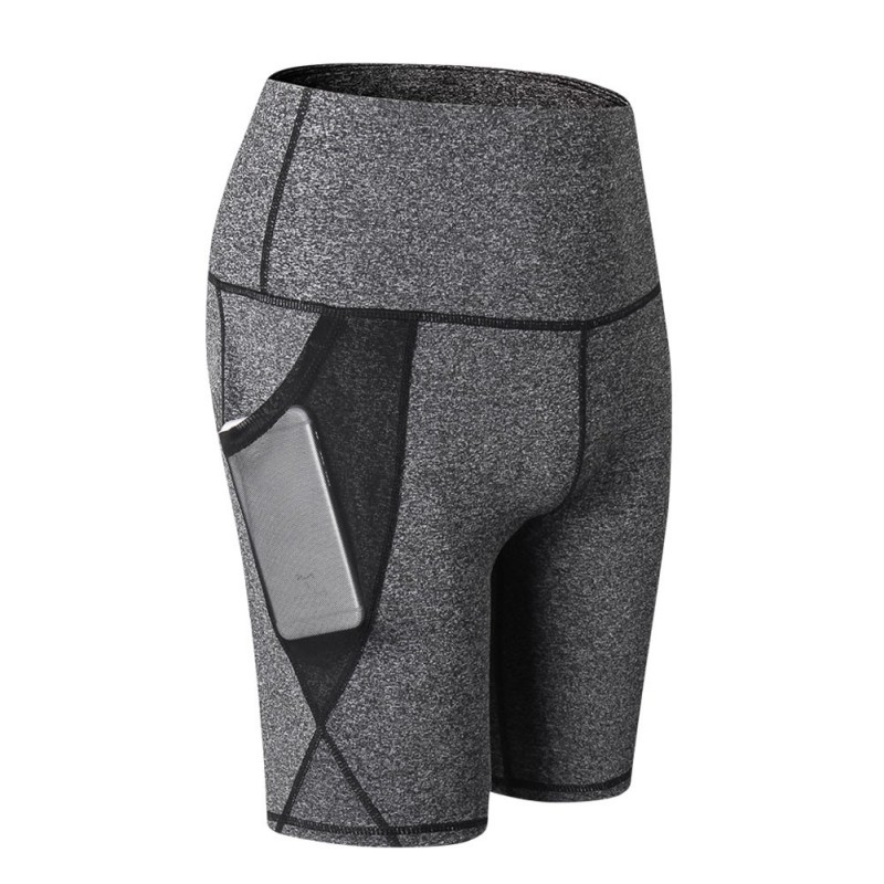 2019 New Summer Quick Drying Fitness Shorts Women Fashion Casual Shorts High Waist Tight Slim Sport Shorts