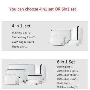 Image 2 - 1 סט Xiaomi Mijia 90fun אחסון שקית עמיד למים כתם עמיד מתקפל ארגונית בגדי נעלי תחתוני קל לשאת נסיעות תיק