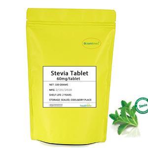 Натуральные мгновенные таблетки стевии 100 г/лот (около 1660 таблеток) с низким содержанием калорий, натуральные подсластители