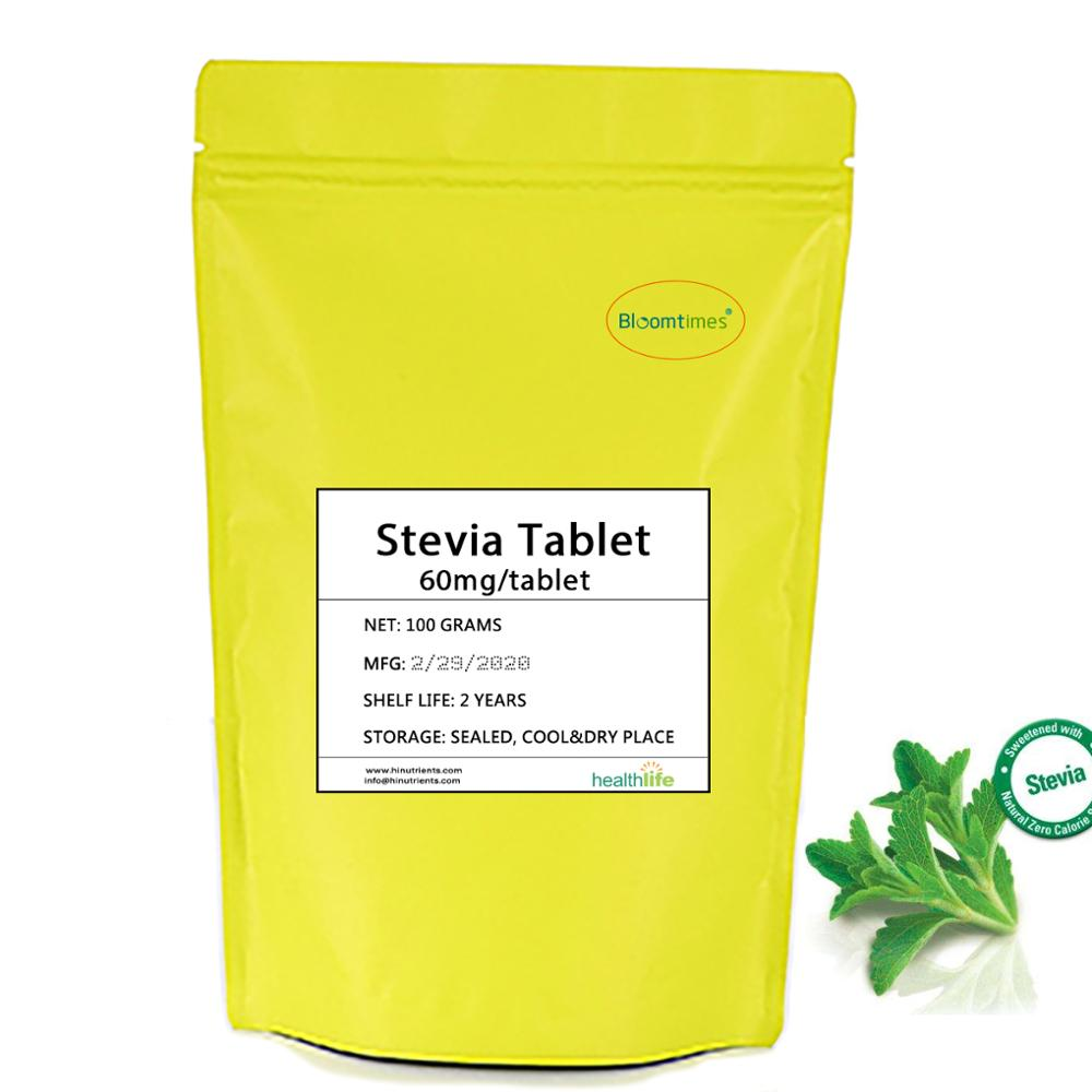 Natural Instant Stevia Tablet 100g/lot (about 1660 Tablet) Low Caloria Natural Sweeteners