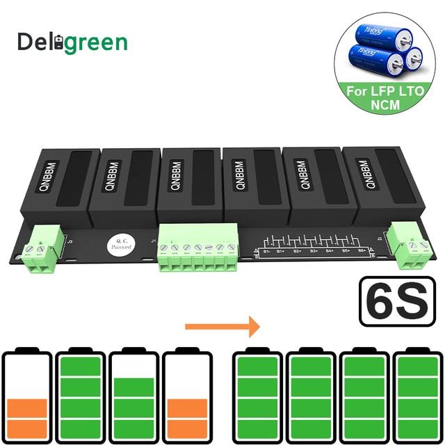 QNBBM 6S Active Battery Equalizer BMS Balancer for LIFEPO4,LTO,Polymer ,LMO,LI NCM LI ion Battery 18650 DIY Pack