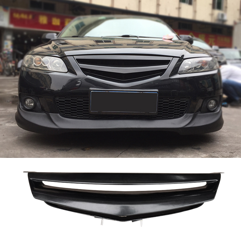 Racing Grill Bumper Carbon Surface Mesh Front Grill GR Style Refitting Accessories For First Generation Mazda 6 2008 2016|Racing Grills| |  - title=