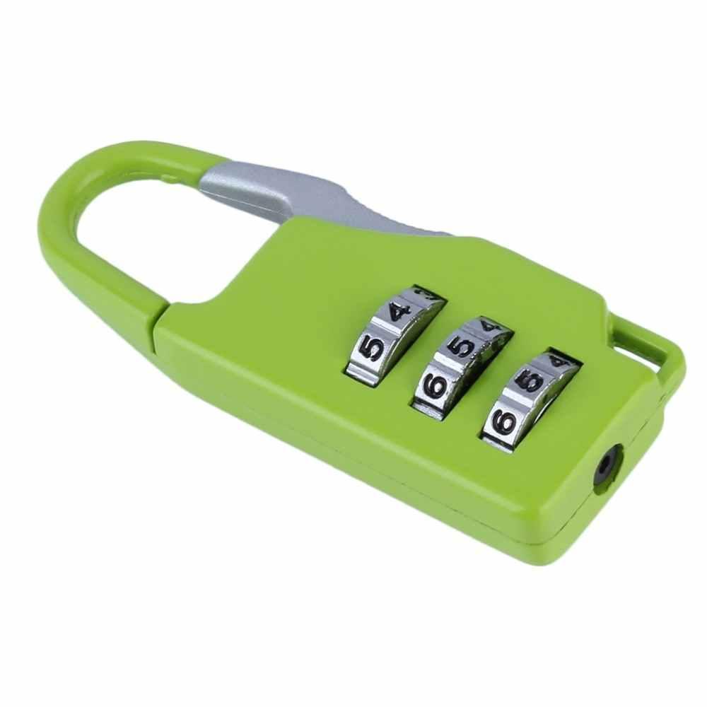Maleta de viaje de 3 Combinaciones de Seguridad, 1 Uds., bolsa de equipaje, candado de cremallera con código, joyeros, cofres de aleación de zinc, nuevo