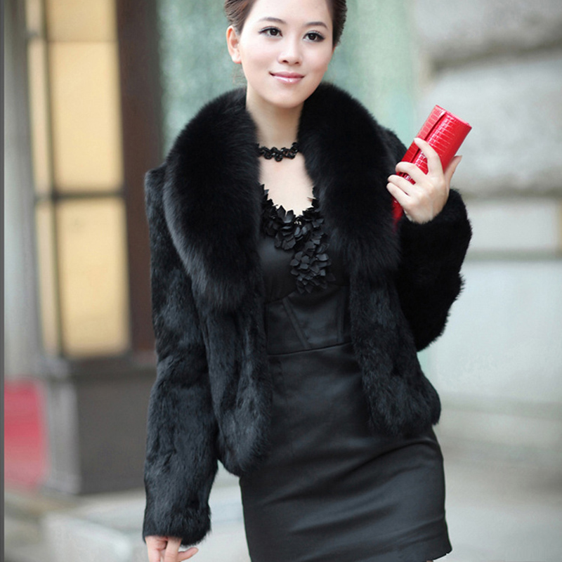 IEason Winter Women Short Coat Ladies Warm Faux Fur Coat Jacket Solid Wild Outerwear
