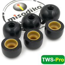 Misodiko TWS Pro Memory Foam EAR Buds เคล็ดลับสำหรับ Creative Outlier Air,Outlier GOLD/JBL ฟรี, TUNE120 TWS/FIIL T1/Mifo O5,O7