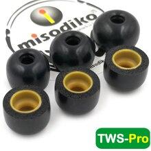 Misodiko Tws Pro Memory Foam Oordopjes Tips Voor Creatieve Uitschieter Air, Uitschieter Goud/Jbl Gratis, TUNE120 Tws/Fiil T1/Mifo O5, O7