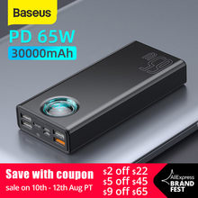 Baseus 33W / 65W Power Bank 30000mAh PD Schnell Lade FCP SCP Power Tragbare Externe Ladegerät Für smartphone Laptop Tablet(China)