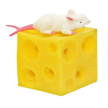 High Quality Latex Mouse And Cheese Toy Hide And Seek Stress Relief For Boy Girl Baby Stressbusting Fidget Mouse Toys