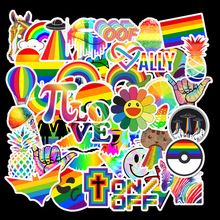 50 Pcs Rainbow Vsco Stickers Anime Girls Animal Cute Graffiti Sticker Decals to DIY Laptop Suitcase Car Motor Guitar Skateboard