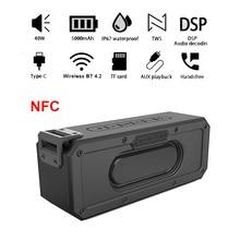 X3PRO TWS 40W HiFi 블루투스 스피커 5000mAh 휴대용 스피커 P67 방수 NFC 스피커 TF 카드 음악 재생 유형 C 마이크