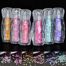 1 garrafa/10g glitter caviar micro contas 24 colorido strass misturado diamantes pixie design unhas artes decorações 0.6mm metalstones #