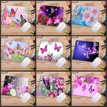 Mairuige Big promotion Cool New beautiful Flower Butterfly Keyboard Gaming Mouse Pads Small Size for 18X22CM Rubber Mousemats