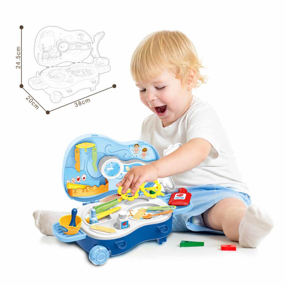22 pces crianças fingir jogar kit médico enfermeira dentista fingir papéis jogar brinquedo conjunto crianças clássico jogo educativo presente m850 #