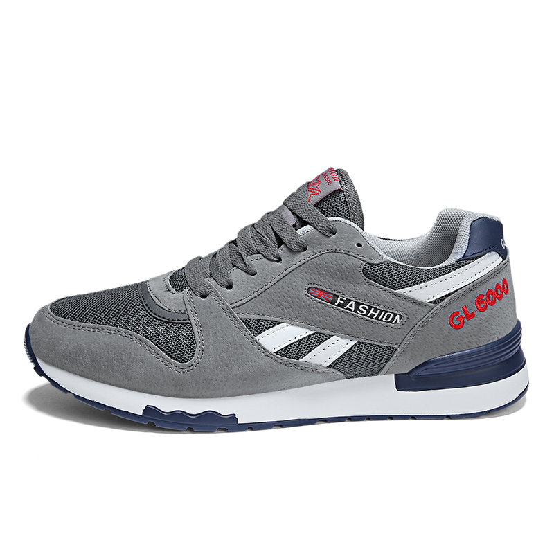 2020 New Trend Big Size Running Shoes Men Sneakers Breathable Air Mesh Shoes Outdoor Male Walking Shoes Black/Gray Sport Shoes