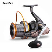 цена на FeelFun 13BB Big Game Fishing Reel Spinning 3000-9000 Series Sea Fishing Reels with Aluminum Line Spool Saltwater Fishing Reel