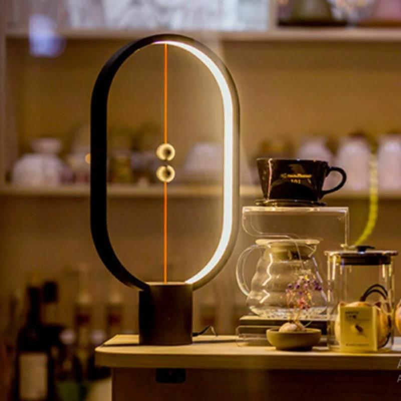 Magnetic Mid-air Switch Warm White Night Light Mini Balance LED Table Lamp DNJ998