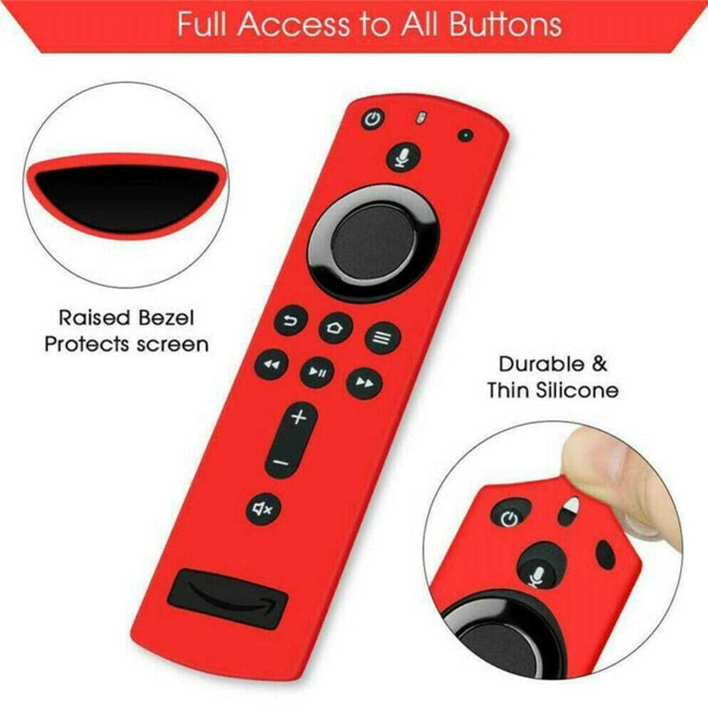 1PC Remote Control Cover Protective Case Silicone Shockproof For Fire TV Stick 4K Durable Anti Slip Accessories image