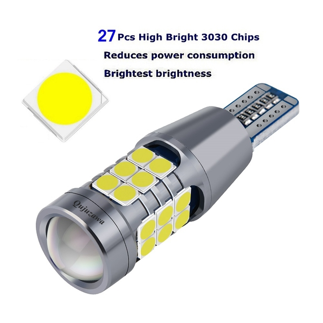 2PCS NEW T15 912 W16W WY16W Super Bright 3030 LED Auto Brake Bulb Backup Reverse Lamp Car Daytime Running Light Turn Signals