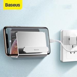 Image 1 - Baseus الألومنيوم حامل هاتف آيفون Xs Xs ماكس الحائط حامل لاصق حامل الهاتف المحمول حامل حامل ل redmi نوت 7