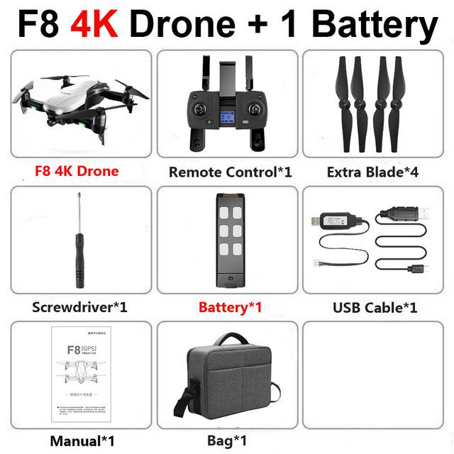 F8 Profissional FPV Vision 4K HD Camera Drone with Two-Axis Anti-Shake and GPS 46