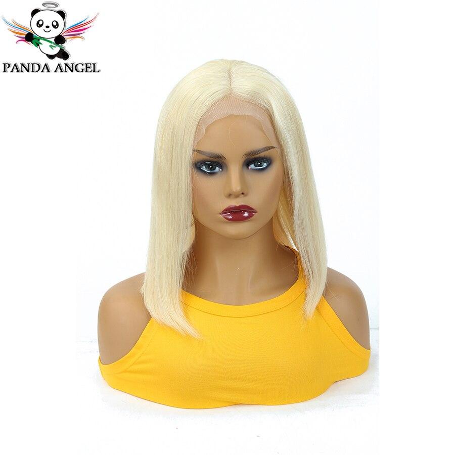 Панда 613 13x4 Мёд блондинка Синтетические волосы на кружеве парики бразильские прямые волосы блондинка короткие боб парики из натуральных