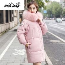 -25 degrees Winter Women jackets Fashion thick warm big fur collar hooded jacket coat parkas outwear plus size sintepon